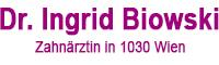 Zahnarzt Dr. Ingrid Biowski, 1030 Wien Logo